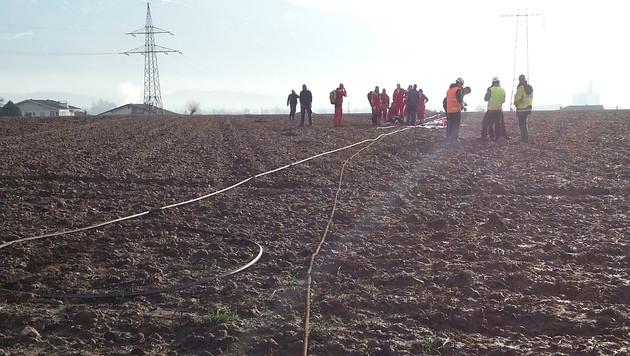 Kärntner von 220-kV-Leitung über Acker geschleift (Bild: C11)