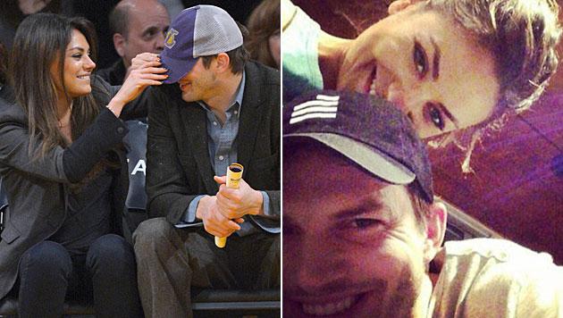 Kunis und Kutcher: Zuerst Geburt, dann Hochzeit (Bild: AP, instagram.com)