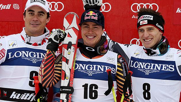 Guay siegt vor Clarey, Matthias Mayer Dritter (Bild: AP)