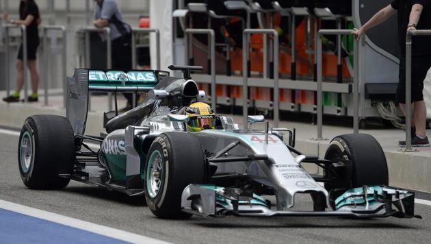 Hamilton zum Abschluss 1., Vettel drehte 77 Runden (Bild: EPA)