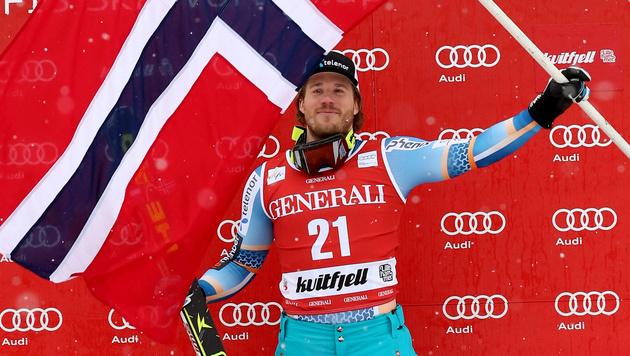 Norweger Jansrud gewinnt vor Küng und Mayer (Bild: AP)
