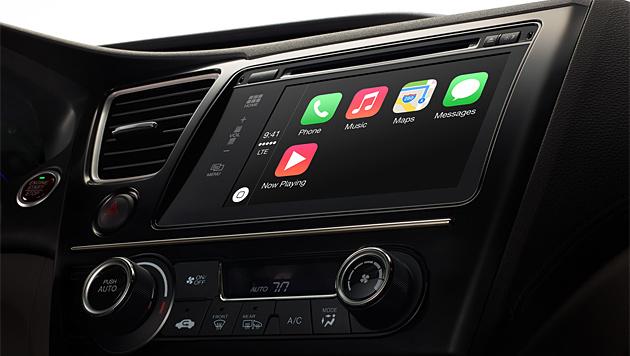 """Apple bringt sein iOS mit """"CarPlay"""" ins Auto (Bild: apple.com)"""