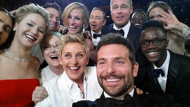Oscar-Selfie von Ellen Degeneres wird Twitter-Hit (Bild: twitter.com)