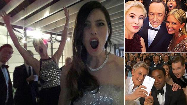 So schräg ging es bei den Oscars backstage zu (Bild: twitter.com, instagram.com)