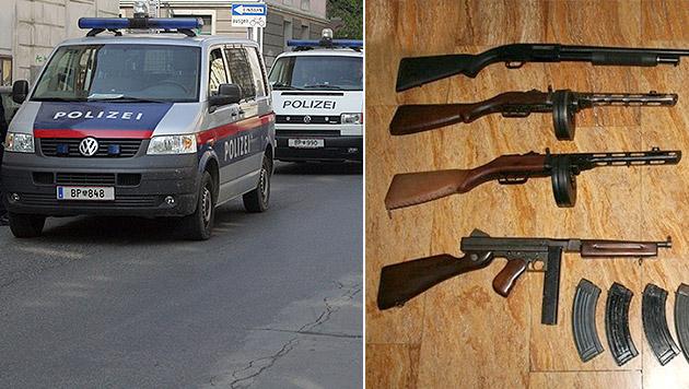 Sprengstoff- und Waffenlieferung abgefangen (Bild: ANDI SCHIEL, Polizei)