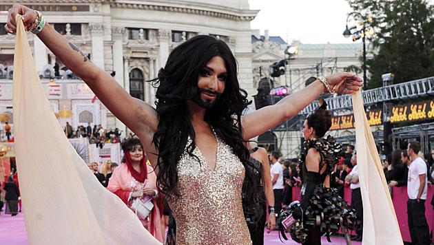 """Conchita stellt ihr Lied bei """"Dancing Stars"""" vor (Bild: APA/GEORG HOCHMUTH)"""