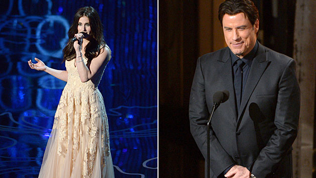 John Travolta: Promi-Häme nach Oscar-Versprecher (Bild: John Shearer/Invision/AP)