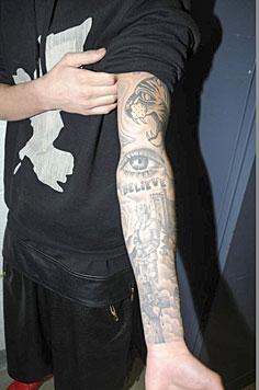 Justin Biebers Körper voller Bibeltätowierungen (Bild: APA/EPA/MIAMI BEACH POLICE DEPARTMENT/HANDOUT)