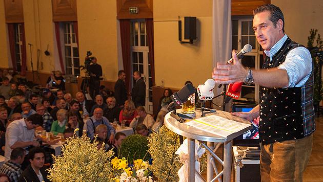 Rundumschlag Straches gegen die Regierung (Bild: APA/MANFRED FESL)
