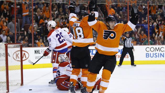 Raffl trifft bei Sieg der Flyers gegen Washington (Bild: AP)