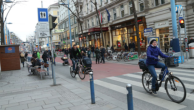 Umbau der Mariahilfer Straße startet am 19. Mai (Bild: Peter Tomschi)