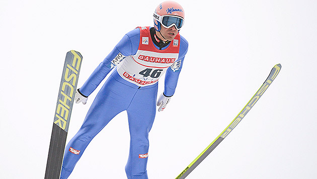 Andi Kofler springt in Trondheim auf Platz zwei (Bild: APA/EPA/KIMMO BRANDT)