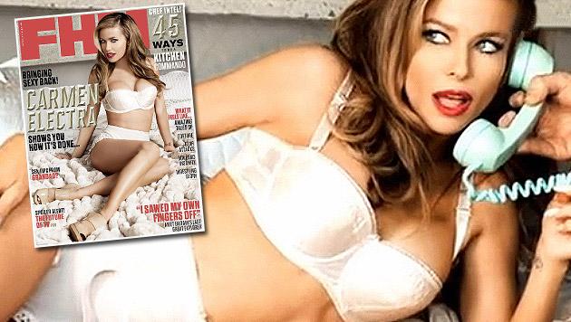 "Electra auch als ältestes ""FHM""-Covergirl heiß (Bild: FHM, Zoom.in)"