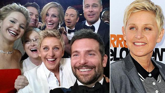 Selfie mit den Superstars: Das Phänomen DeGeneres (Bild: AP, Katy Winn/Invision/AP)