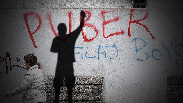 "U-Haft über Graffitisprayer ""Puber"" verhängt (Bild: APA/HELMUT FOHRINGER, thinkstockphotos.de, krone.at-Grafik)"