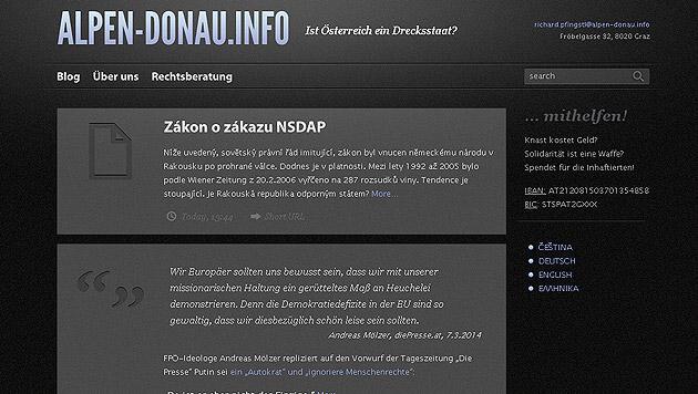 "Neonazi-Website: ""alpen-donau.info"" wieder online (Bild: Screenshot alpen-donau.info)"