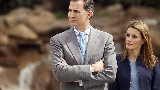 Steht Ehe von Felipe und Letizia vor dem Aus? (Bild: APA/EPA/CRISTOBAL GARCIA)