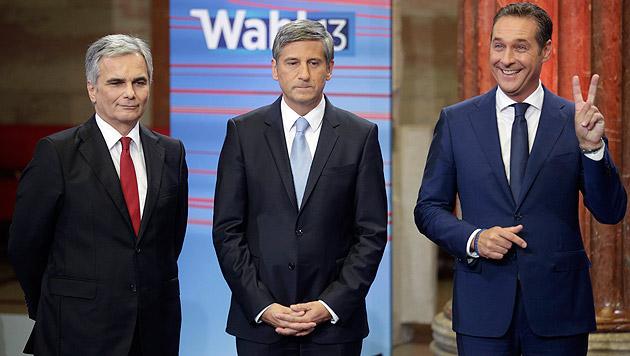 Sonntagsfrage: FPÖ klar voran, SPÖ und ÖVP schwach (Bild: APA/Georg Hochmuth)