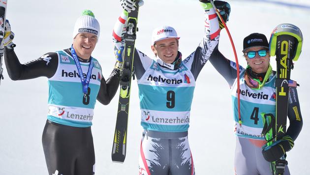 Matthias Mayer gewinnt Abfahrt in Lenzerheide (Bild: APA/BARBARA GINDL)