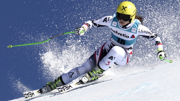 Anna Fenninger holt den Gesamtweltcup (Bild: EPA)