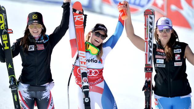 Anna Fenninger holt den Gesamtweltcup (Bild: APA/BARBARA GINDL)