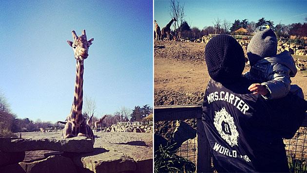 Beyonce macht Zoo-Ausflug mit Töchterl Blue Ivy (Bild: instagram.com)