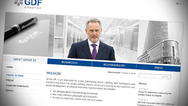 Ukrainischer Oligarch (48) in Wien verhaftet (Bild: Screenshot groupdf.com/en/about/mission-vision)