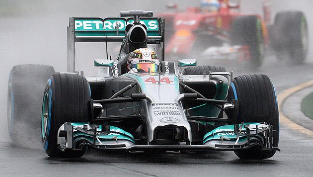 Hamilton holt Pole vor Riccardo, Vettel nur 12. (Bild: AFP)