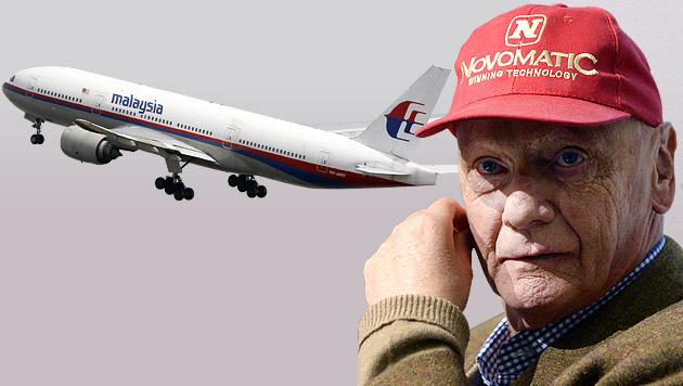 Kann ein Flieger einfach verschwinden, Herr Lauda? (Bild: AP, APA/HANS KLAUS TECHT, krone.at-Grafik)
