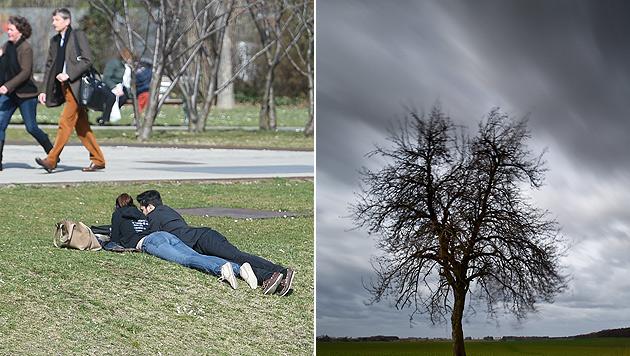 Bereits kommende Woche echtes April-Wetter (Bild: APA/HEF, dpa-Zentralbild/Patrick Pleu)