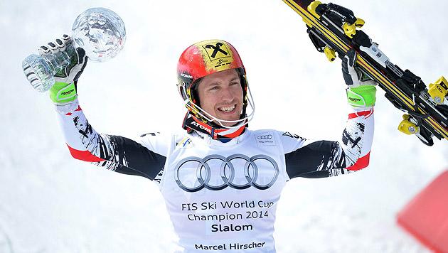Hirscher siegt vor Neureuther und holt Slalomkugel (Bild: APA/EPA/BARBARA GINDL)