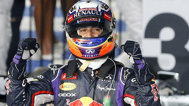 Red Bulls Ricciardo nach Platz 2 disqualifiziert (Bild: APA/EPA/DIEGO AZUBEL)