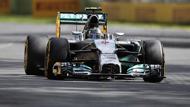 Rosberg siegt, Hamilton und Vettel mit Defekt out (Bild: AP)
