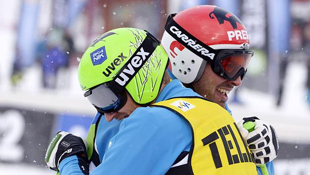 Tiroler Zangerl feiert ersten Weltcupsieg vor Matt (Bild: AP/TT, Janerik Henriksson)