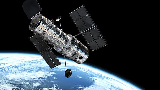 "Das Weltraumteleskop ""Hubble"" im Erdorbit (Bild: ESA)"