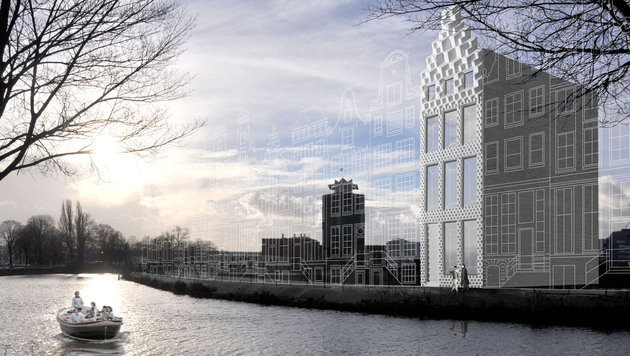 Architekten drucken in Amsterdam Kanalhaus aus (Bild: DUS architects)