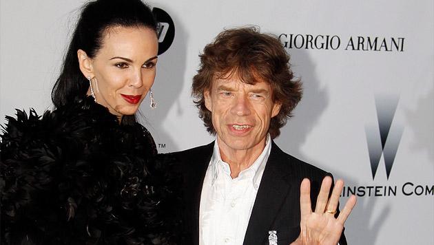 "Mick Jagger und L""Wren Scott (Bild: APA/EPA/IAN LANGSDON)"