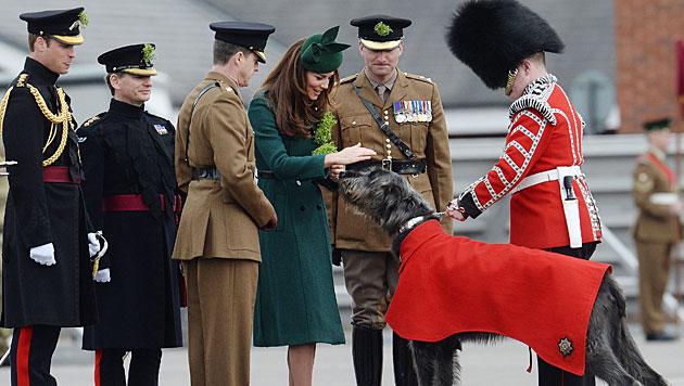 Kate strahlend schön am St. Patrick's Day (Bild: AP)