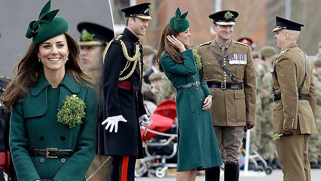 "Kate strahlend schön am St. Patrick""s Day (Bild: APA/EPA/ANDY RAIN)"