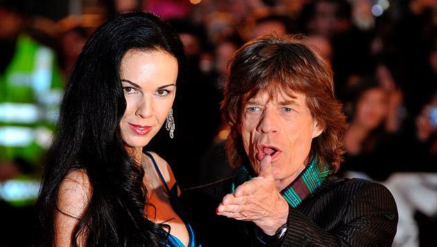 Mick Jagger und L'Wren Scott (Bild: APA/EPA/DANIEL DEME)