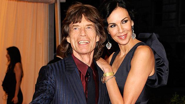 Mick Jagger und L'Wren Scott (Bild: AP)