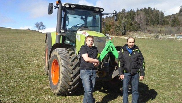 Stmk: Duo verfolgt Autodieb mit Traktor - gefasst (Bild: MS)