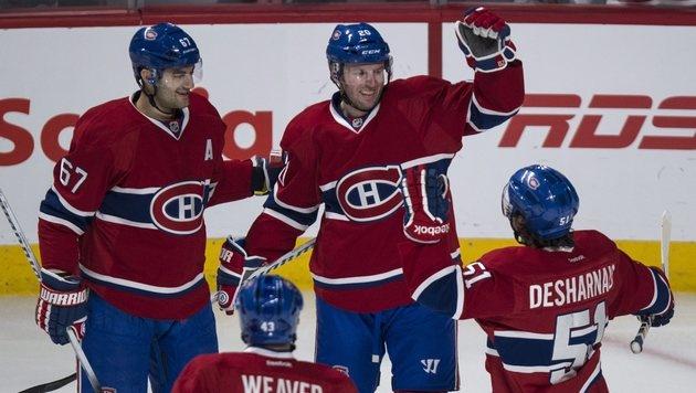 Vanek holt mit Montreal Sieg in Boston (Bild: AP)