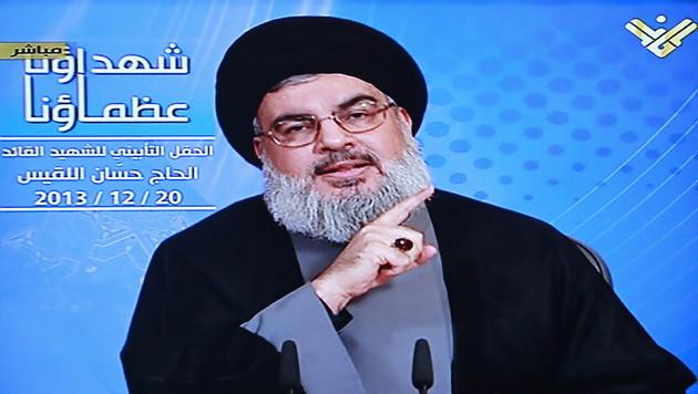 Hisbollah startet Nachrichten-App für iPhones (Bild: AL-MANAR TV/EPA)