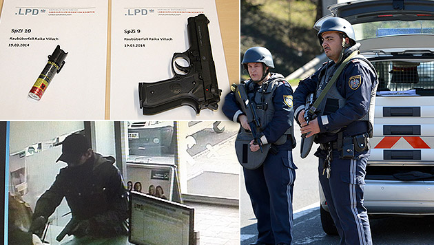 Serienräuber nach Banküberfall in Villach gefasst (Bild: Hermann Sobe, Polizei, krone.at-Grafik)