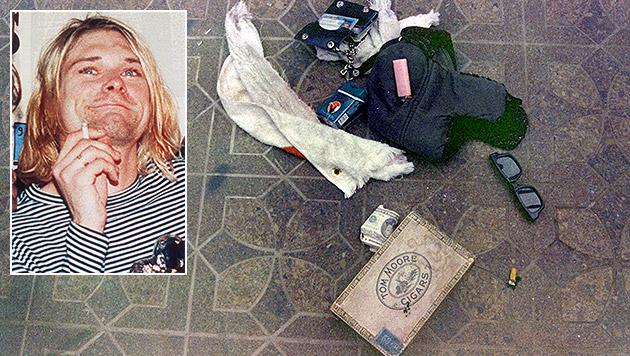 Cobain-Suizid: Polizei zeigt neue Fotos (Bild: AP)