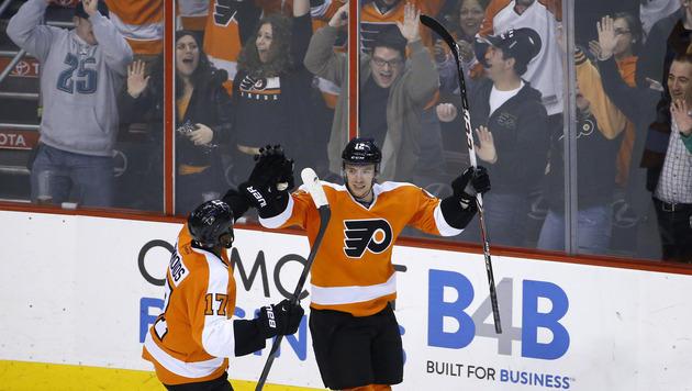 Flyers gleichen mit Raffl gegen die Rangers aus (Bild: AP)