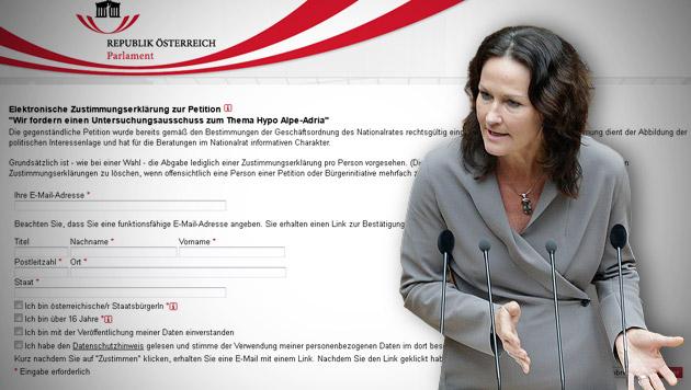 """""""Heimlichtuerei beenden, U-Ausschuss ab Mai"""" (Bild: Screenshot parlament.gv.at, APA/GEORG HOCHMUTH, krone.at-Grafik)"""