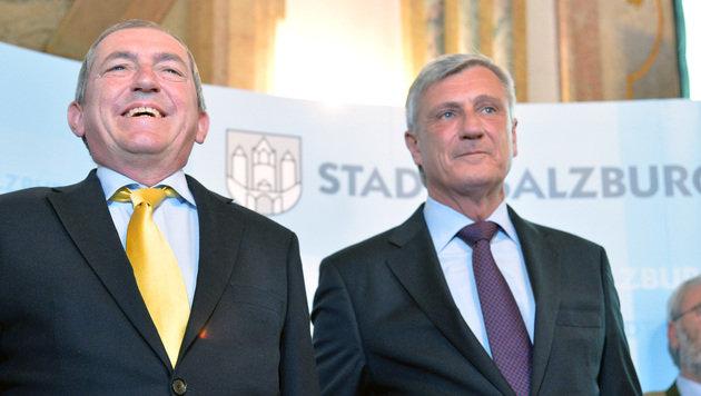 Heinz Schaden bleibt Bürgermeister von Salzburg (Bild: APA/BARBARA GINDL)
