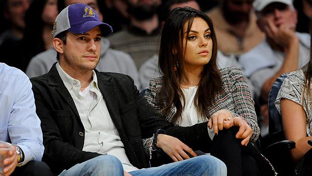 Seit Februar 2014 sind Ashton Kutcher und Mila Kunis verlobt. (Bild: AP)